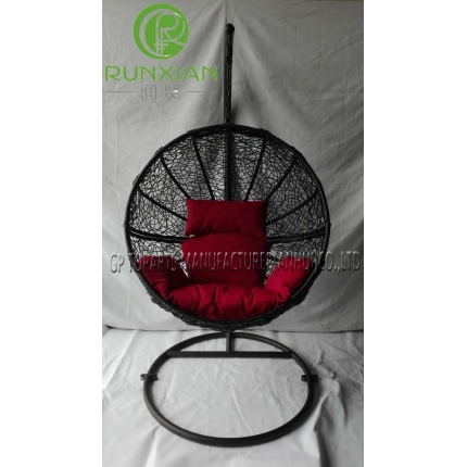 PE rattan patio hanging chair